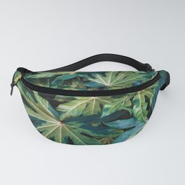 Leaves Photography   Green   Turquoise   Pink   Botanical   Tropical   Art Prints Fanny Pack