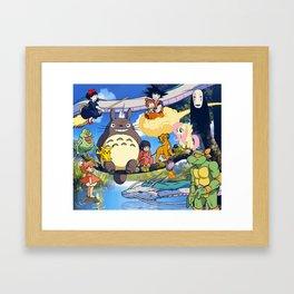 Friends in a Tree Framed Art Print