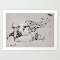 fear and loathing Art Prints featuring Fear and Loathing by Joe Cardoso