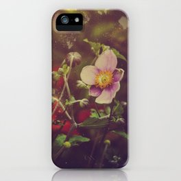 Textured Anemone (Cool Colors) iPhone Case