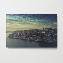 Porto, Portugal. From the top of the bridge. Metal Print