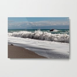 Magic Waves on the Isle of Sicily Metal Print