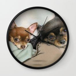 Like Two Chi's In A Pod Wall Clock