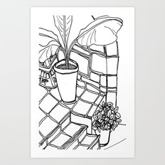 in greece we love Art Print