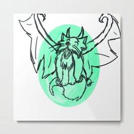 Demon Kitty Metal Print