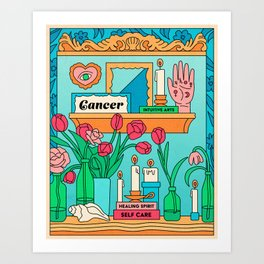 Cancer Country Jewel Art Print