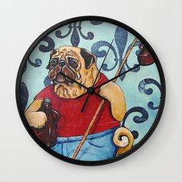 Pug Jug Jug Wall Clock
