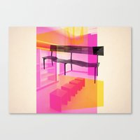 bauhaus Canvas Prints featuring Bauhaus by mJdesign