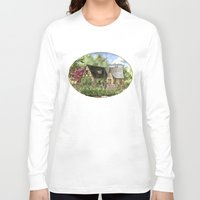 kentucky Long Sleeve T-shirts featuring Tudor House on Kentucky Avenue by Shelley Ylst Art