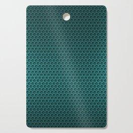 Metallic Aqua Graphite Honeycomb Carbon Fiber Cutting Board