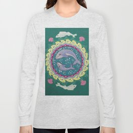 Into the Deep, Whale Mandala Long Sleeve T-shirt