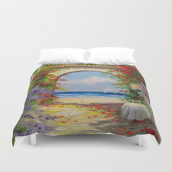 At the seaside Duvet Cover
