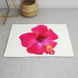 Red Hibiscus Rug