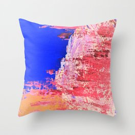Into the Mist Pantone Color of the Year 2016 Abstract Throw Pillow