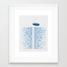 217 Finicky Fish (plenty of fish in the sea) Framed Art Print