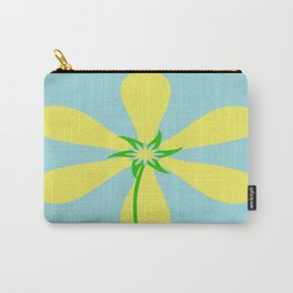 Flower Power - Blue Carry-All Pouch
