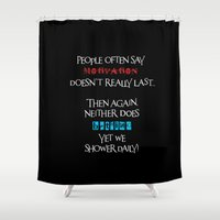 motivation Shower Curtains featuring Motivation by Sabreen Aziz