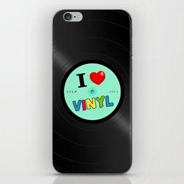 I Love Vinyl iPhone Skin