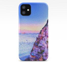 Twilight Over Positano, Italy iPhone Case