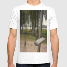 Lonely Swing MEDIUM White Mens Fitted Tee