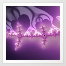 amazing fractal Hearts Art Print