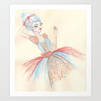 marie antoinette Art Prints featuring Marie Antoinette by carotoki art and love