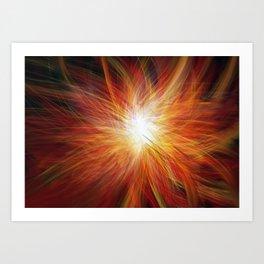 Fireburst Art Print