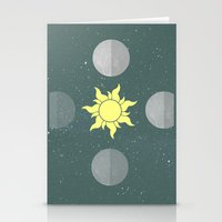 moon phases Stationery Cards featuring Phases by Shelby Thompson
