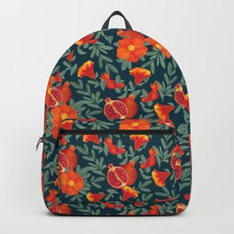Pomegranate. Blue pattern Backpack
