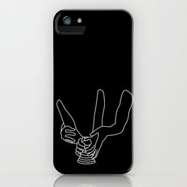 Minimal line drawing of Demi Moore and Patrick Swayze in the famous Ghost iPhone Case