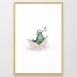 Lizard on an Adventure Framed Art Print