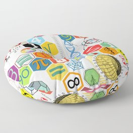 Math in color (white Background) Floor Pillow