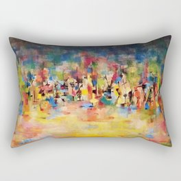 African American Masterpiece 'Untitled' No. 3 by Norman Lewis Rectangular Pillow
