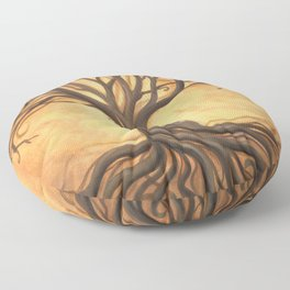 """""""Tree of Life"""" by Renée Womack Floor Pillow"""
