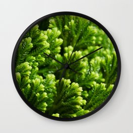 Green floral background Wall Clock