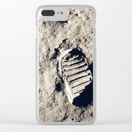 One Giant Leap For Mankind Clear iPhone Case