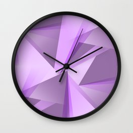 Meditation - Purple Abstract Wall Clock