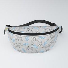 Siberian Husky Pattern (Light Gray) Fanny Pack