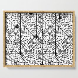 Spider Cob Web Halloween Serving Tray