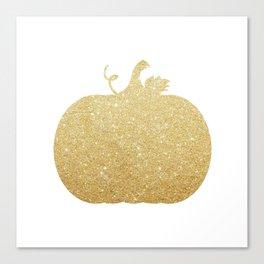 Gold Glitter Pumpkin Canvas Print