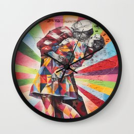 New York Graffiti Wall Clock