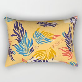 Primary Colors Leaves Rectangular Pillow