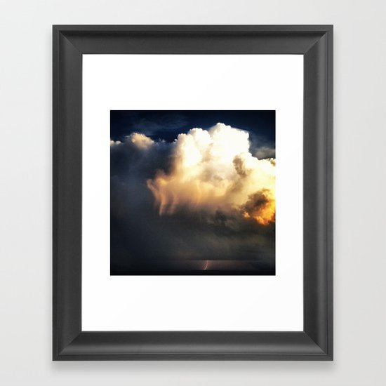 Lighting Strikes Framed Art Print