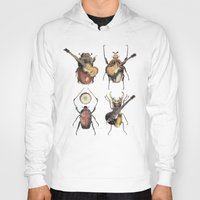 pop Hoodies featuring Meet the Beetles by Eric Fan