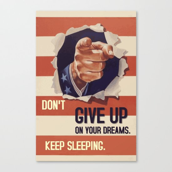 Don't give up poster quote Canvas Print