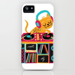 Cat DJ iPhone Case