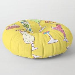 Tropical Libations Floor Pillow