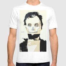 Abraham Lincoln (skull) Mens Fitted Tee White MEDIUM