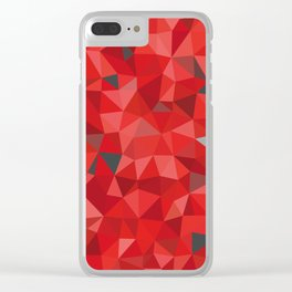 Red and gray triangular pattern - triangles mosaic Clear iPhone Case