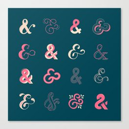 Ampersands Canvas Print